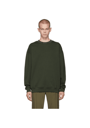 Acne Studios Green Logo Neck Sweatshirt