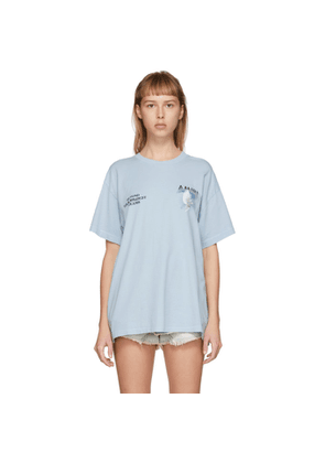 Amiri Blue Rainbow Dove T-Shirt