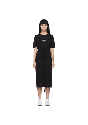 Kenzo Black Belted T-Shirt Dress
