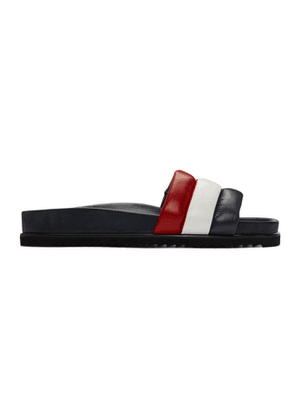 Thom Browne Navy and Red Quilted Pool Slides