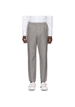 Kenzo Black and Beige Cropped Jog Trousers