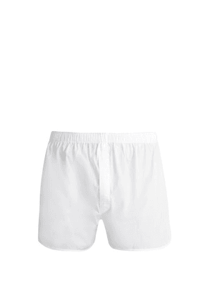 Sunspel - Classic Cotton Boxer Shorts - Mens - White