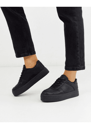 ASOS DESIGN Diaries flatform trainers in black