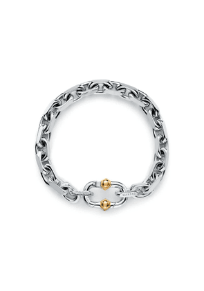 Tiffany 1837™ Makers wide chain bracelet in sterling silver and 18k gold, large