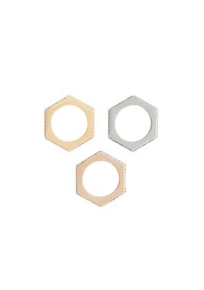 Burberry Crystal Rose Gold Palladium Gold-plated Nut Rings