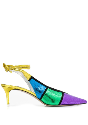 The Attico colour block pumps - PURPLE