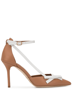 Malone Souliers Josie side bow pumps - Brown