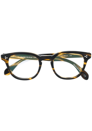 Oliver Peoples Kauffman round frame glasses - Brown
