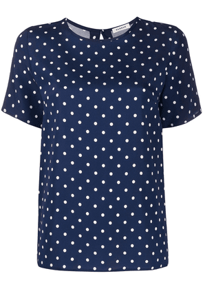 P.A.R.O.S.H. polka dot crew neck blouse - Blue