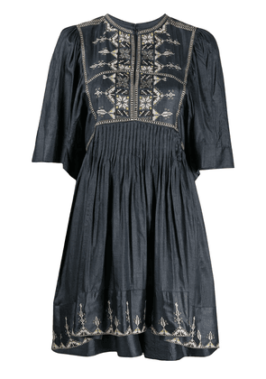 Isabel Marant Étoile Thea embroidered dress - Grey