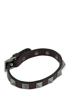 1cm Rockstud Leather Bracelet