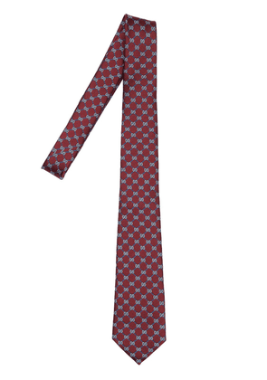 7cm Gg Geometric Interlocking Silk Tie