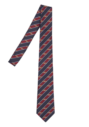 7cm Gg Interlocking Striped Silk Tie