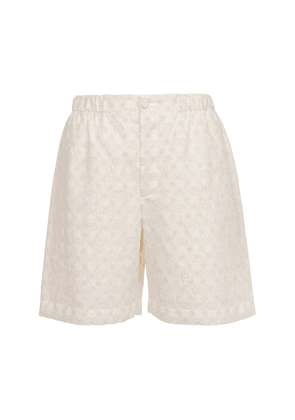 Gg Embroidery Cotton Lace Shorts