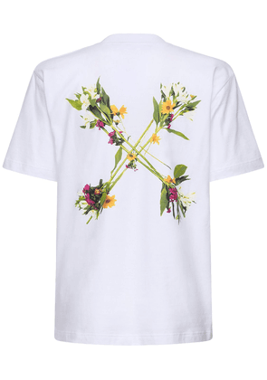 Floral Arrows Printed Jersey T-shirt