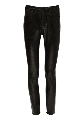 Coated Cotton Denim Skinny Jeans
