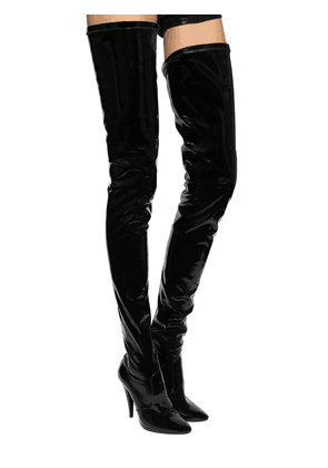 110mm Aylah Patent Over-the-knee Boots