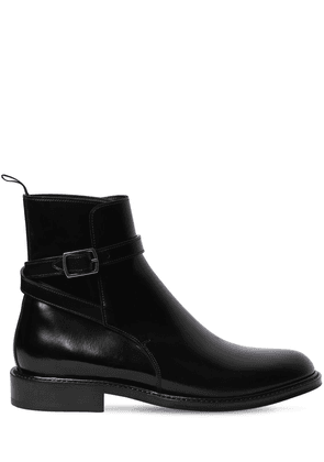 20mm Army Brushed Leather Ankle Boots