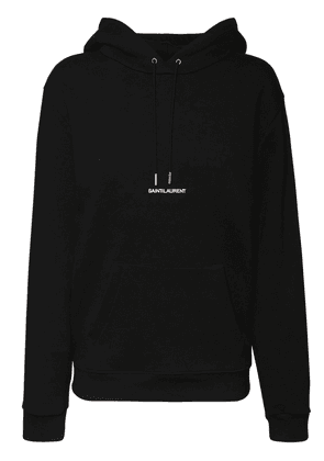Logo Embroidery Cotton Jersey Hoodie