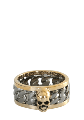 alexander mcqueen skull ring and chain