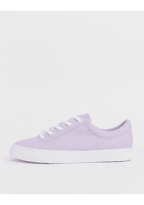 ASOS DESIGN Decency lace up trainers in lilac-Purple
