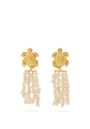 Begum Khan - Tortuga Florence 24kt Gold-plated Clip Earrings - Womens - Gold