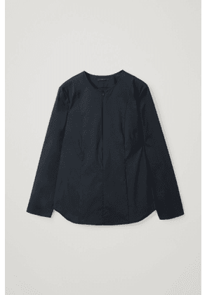 FITTED COTTON-MIX SHIRT