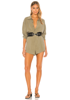 L'Academie Dylan Romper in Army. Size L,S.