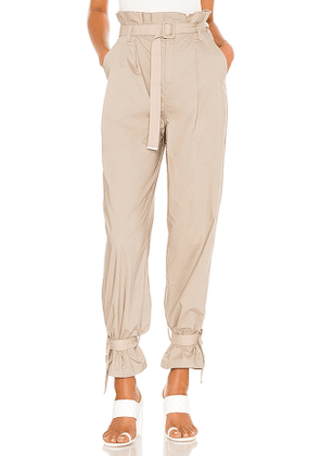 L'Academie The Virgil Pant in Taupe. Size M,S,XL,XS,XXS.