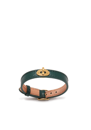 Mulberry Bayswater Thin Bracelet in Mulberry Green Silky Calf