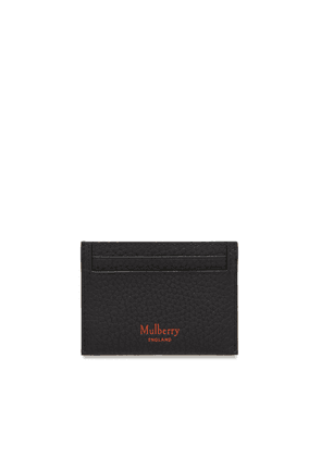 Mulberry Credit Card Slip in Black and Bright Orange Heavy Grain
