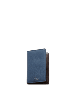 Mulberry Card Case in Pale Navy Heavy Grain