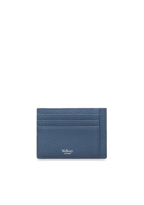 Mulberry Card Holder in Pale Navy Heavy Grain