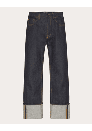 Valentino Uomo Baggy Fit Jeans Man Navy  28