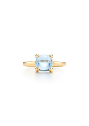 Paloma's Sugar Stacks ring in 18k gold with a blue topaz - Size 5