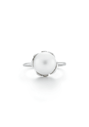 Paloma Picasso® Olive Leaf pearl ring in sterling silver - Size 6 1/2