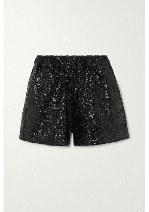 In The Mood For Love - Rosana Sequined Tulle Shorts - Black
