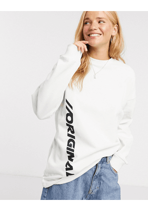 ASOS DESIGN oversized sweatshirt with original print in cream