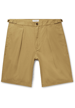 J.Crew - Wallace & Barnes Pleated Cotton Shorts - Men - Brown
