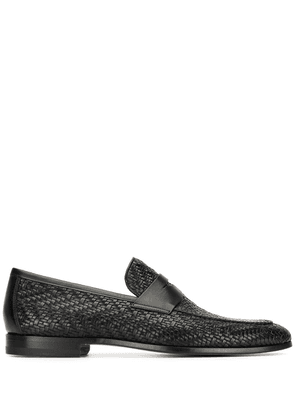 Magnanni Penny woven loafers - Black