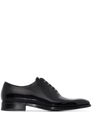 Givenchy black patent leather Oxford shoes