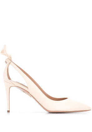 Aquazzura Bow Tie 85mm pumps - NEUTRALS