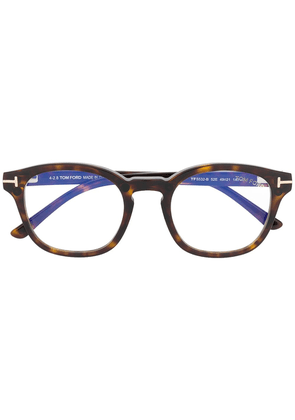 Tom Ford Eyewear round frame glasses - Brown
