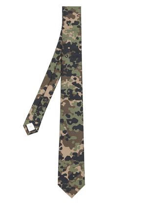 Burberry classic cut camouflage print tie - Green