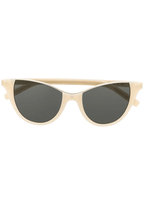 Saint Laurent Eyewear Stella cat-eye sunglasses - NEUTRALS