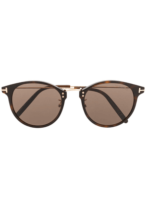 Tom Ford Eyewear tortoiseshell round frame sunglasses - Brown