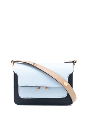 Marni small Trunk colour-block shoulder bag - Blue