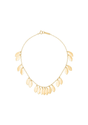 Isabel Marant gold tone leaf chain necklace