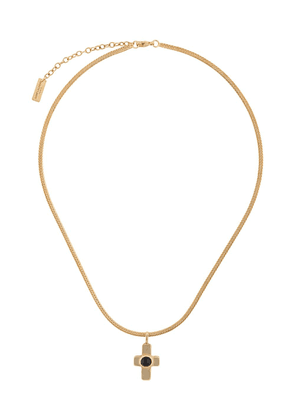 Saint Laurent cross pendant necklace - GOLD