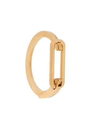 Saint Laurent carabiner logo-engraved bracelet - GOLD